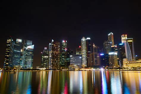 Free Images : landscape water horizon skyline night