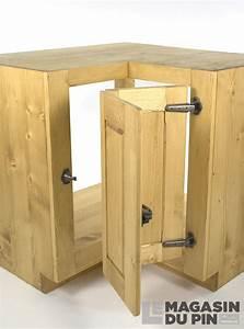 Meuble Evier D Angle : meuble sous vier d 39 angle pin massif pour cuisine avoriaz ~ Premium-room.com Idées de Décoration