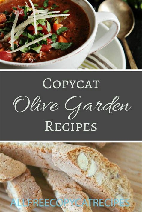 30 Olive Garden Copycat Recipes Allfreecopycatrecipescom