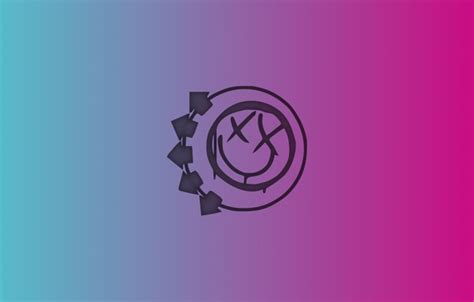 Blink 182 Logo Sony Xperia C wallpaper pink blue minimalism blink 182 images for