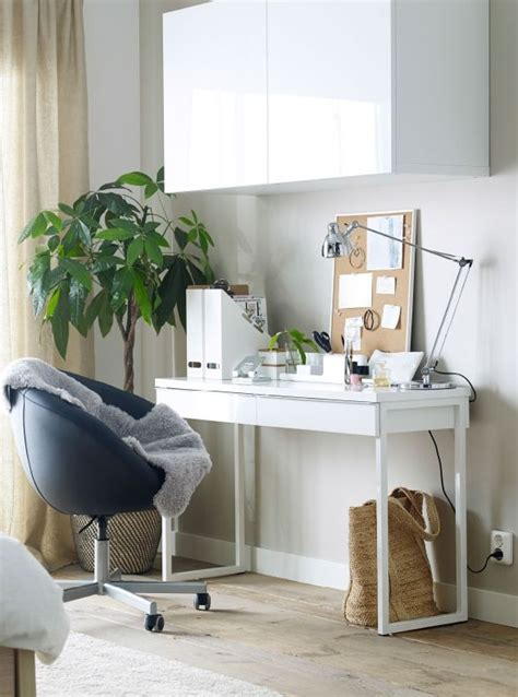 besta office best 197 burs desk high gloss white home offices ikea