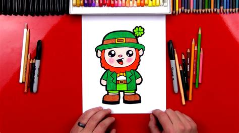 draw  cartoon leprechaun art  kids hub