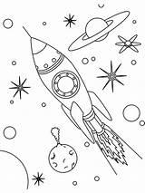 Rocket Coloring Space Pages Drawing Ship Simple Printable Para Getdrawings Designlooter Hellokids Outer Desde Guardado Es Google sketch template