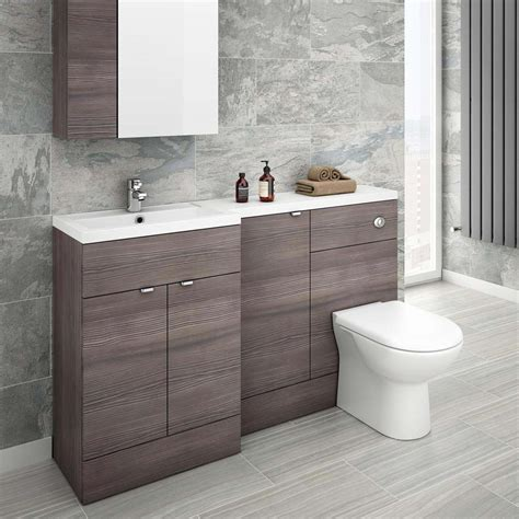 bathroom furniture ideas grey avola combination furniture pack 1500mm