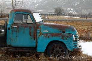 Old Farm Truck Blue