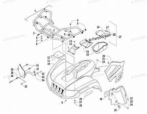 Arctic Cat Atv 2007 Oem Parts Diagram For Front Body Panel Assembly