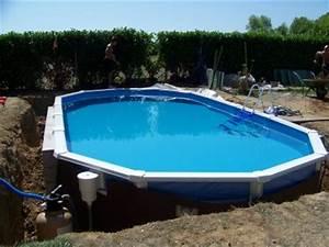 Enterrer Une Piscine Hors Sol : piscine hors sol enterrer ~ Melissatoandfro.com Idées de Décoration