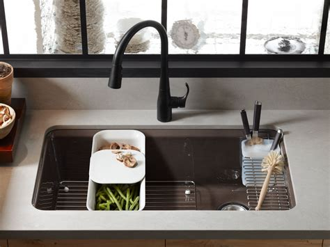 kohler kitchen accessories standard plumbing supply product riverby 33 quot x 22 quot x 9 3596