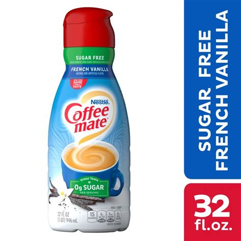 Aroma pulver mit vanille geschmack mit süßungsmittel zutaten coffee mate powder sugar free french. Nestle Coffee mate Sugar Free French Vanilla Liquid Coffee ...