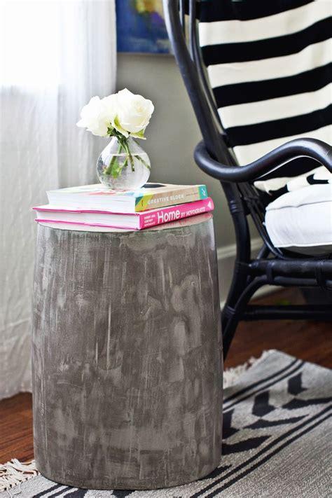 diy lightweight cement side tables  beautiful mess