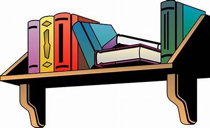 Shelf Clipart Books Furniture Bookshelf Transparent Clip