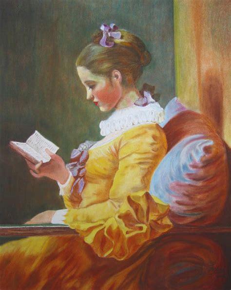Die Lesende Frau Nach Jean Honoré Fragonard Lesende