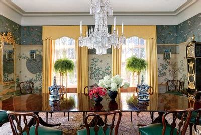 chinoiserie wallpaper  panels   stage