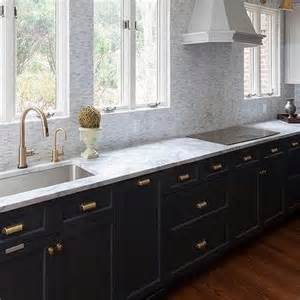 Tumbled Marble Kitchen Backsplash Kitchen With Light Gray Cabinets And Gray Cabinets Transitional Kitchen Benjamin