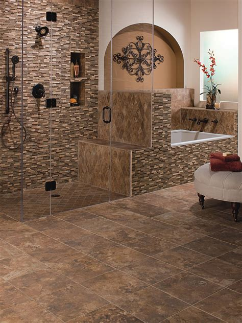 A wide range of bathroom floor tiles, less than half the price on the high street. Ceramic Tile Bathroom Floors | Bathroom Design - Choose Floor Plan & Bath Remodeling Materials ...