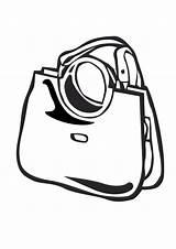 Coloring Purse Handbag Template Alberto sketch template