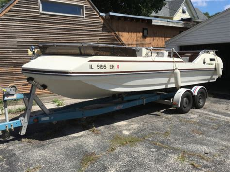 Deck Boat Viking by 1977 Viking Tri Hull Deck Boat 22 Original Owner Looks And