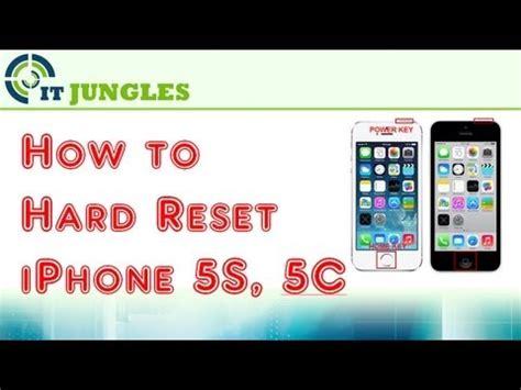 reset iphone 5c how to reset iphone 5s 3 different methods