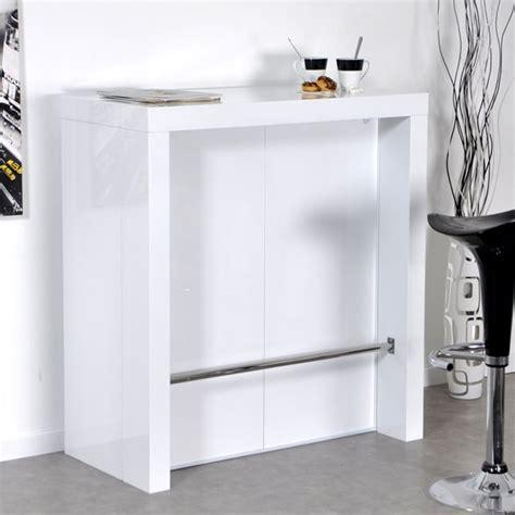 console bar cuisine bar laqué blanc algo console extensible lestendances fr