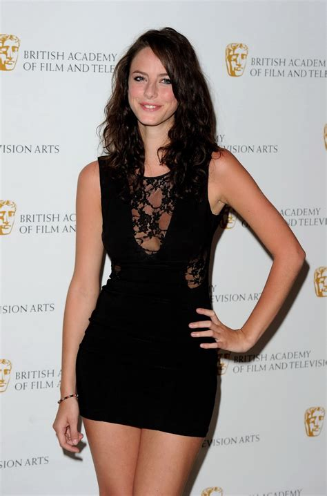 Kaya Scodelario Braless Showing Cleavage And Pokies In Tiny Black Mini Dress At Pichunter
