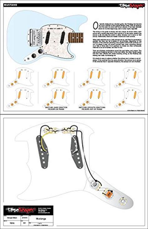 toneshaper guitar wiring kit  fender mustang black
