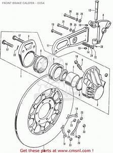 Honda Cb750k0 Four  England  - Front Brake Caliper
