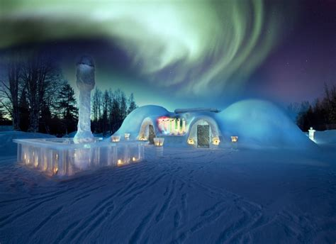 Northern Lights Igloo by Explore The Lapland Sg Travel