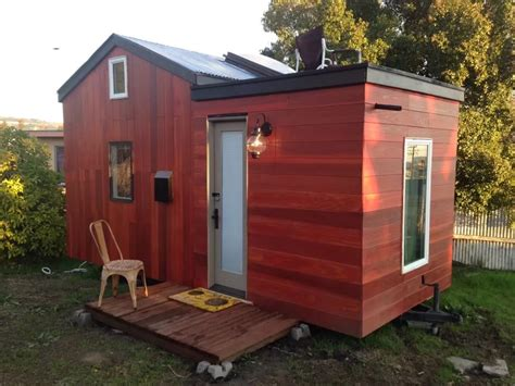 plans for cabins modern tiny house on wheels in oakland california