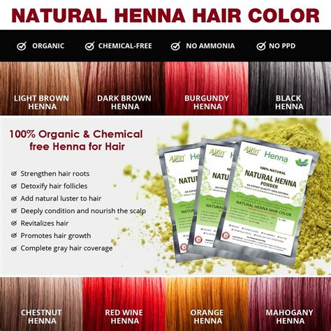 Allin Exporters Natural Henna Hair Color 100 Organic