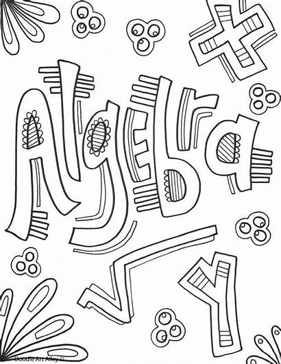Math Coloring Pages Algebra Subject Subjects Covers