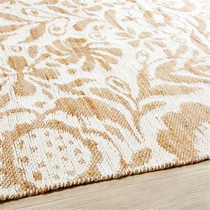 Tapis En Coton : tapis en jute et coton motifs blancs 160x230 lukila ~ Nature-et-papiers.com Idées de Décoration