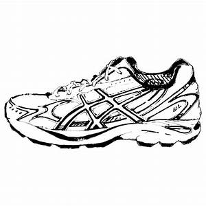Hanging Running Shoes Clipart - ClipartXtras