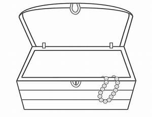 treasure chest clipart black and white free - Clipground