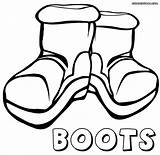 Boots Coloring Pages Boots3 sketch template
