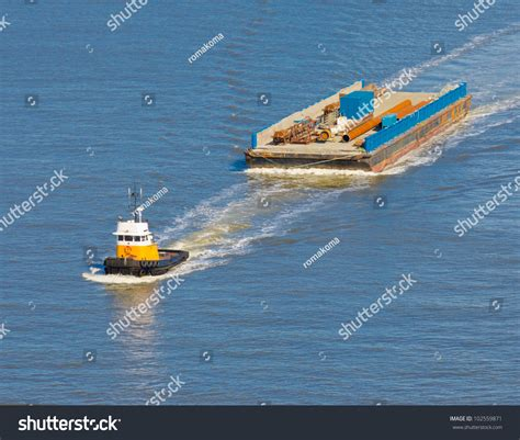 Tug Boat Singapore by Tug Boat Towing Barge Stock Photo 102559871 Shutterstock