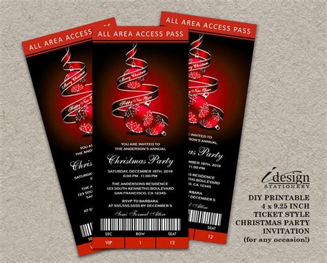 ticket style invitations images  pinterest