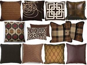 Welche Kissen Zu Rotem Sofa : einrichten mit farben braune m bel und w nde f r ~ Michelbontemps.com Haus und Dekorationen