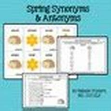 Spring Synonym And Antonym Activities By Natalie Snyders Tpt