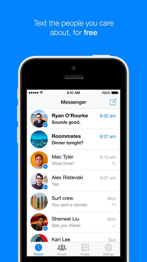 messenger for iphone messenger free free app alliance all the