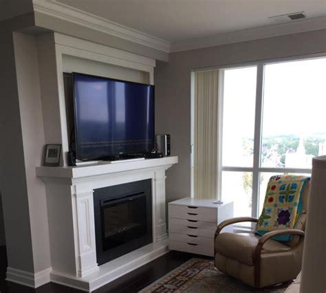 safe  mount  tv   fireplace chimney