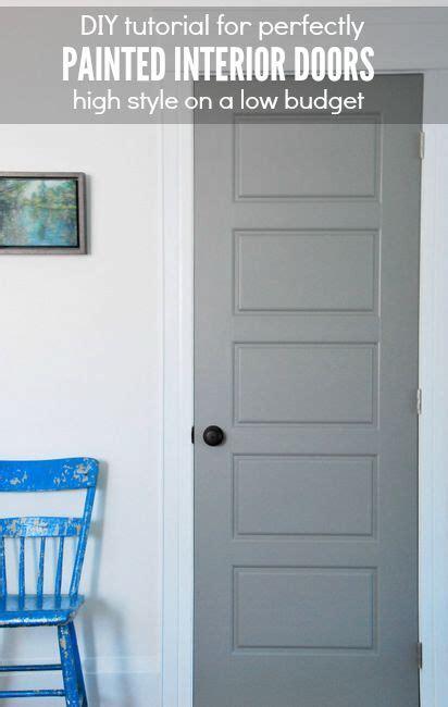 painting gray interior doors     dream home