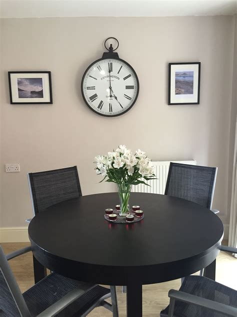 dulux gentle fawn clock and cornwall prints by dave crocker dining room idea kitchen