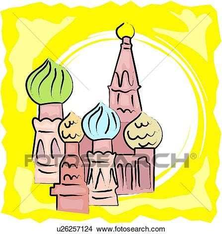 foto de Clipart of St Basil's Cathedral u26257124 Search Clip
