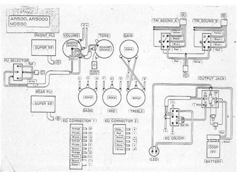 Ovation Guitar Wiring Diagram by Documents