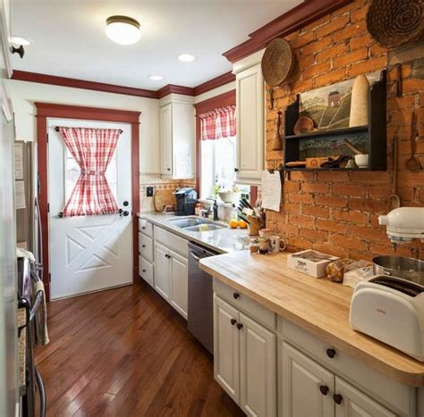 exposed brick kitchen backsplash the coolest kitchen by using color brick walls 10 7104