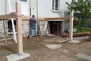 faire une terrasse en bois sur pilotis mzaolcom With construction terrasse bois sur pilotis
