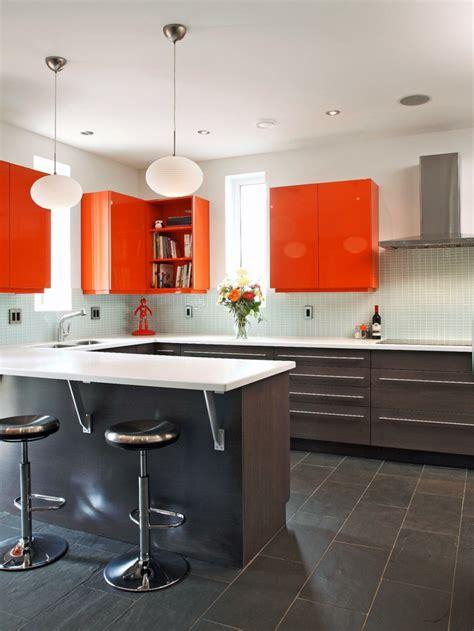 cuisine orange et noir couleur cuisine laquelle choisir