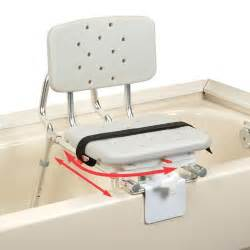 extra short sliding tub mount transfer bench with swivel