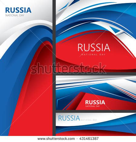 colors in russian abstract russian flag russia national colors stock vector