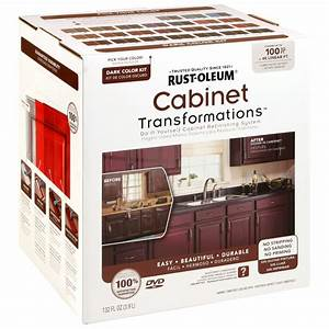 rust oleum transformations 9 piece dark color cabinet kit With kitchen colors with white cabinets with texas two step one sticker